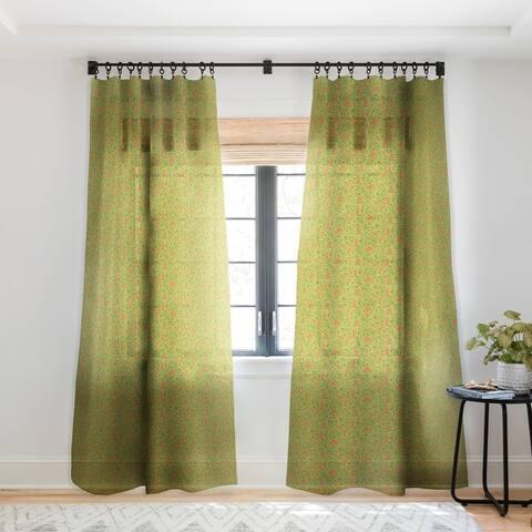 Sharon Turner Algae Single Panel Sheer Curtain - 50 x 84