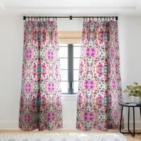 Marta Barragan Camarasa Abstract Geometrical Flowers Single Panel Sheer Curtain