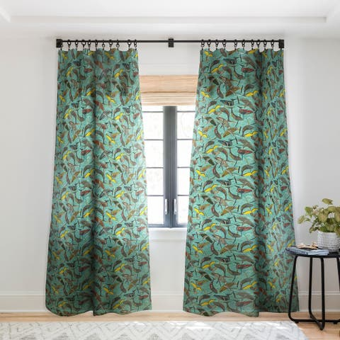 Sharon Turner Whales and Waves Single Panel Sheer Curtain - 50 x 84
