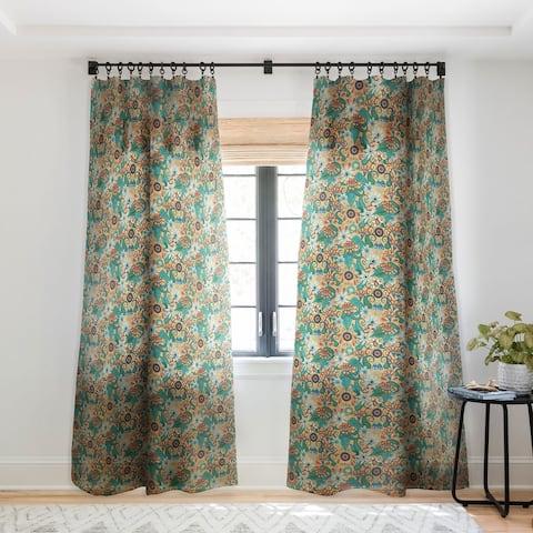 Sharon Turner Sarilmak Apricot Single Panel Sheer Curtain - 50 x 84