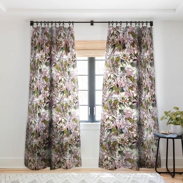 Marta Barragan Camarasa Blooming wild botanical paradise Single Panel Sheer Curtain - 50 x 84. Opens flyout.