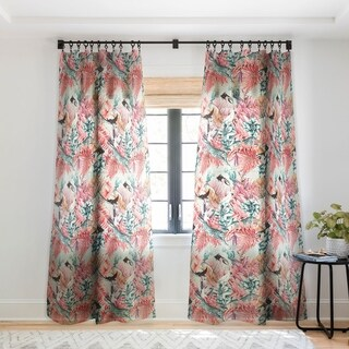 Marta Barragan Camarasa Tropical paradise pink Single Panel Sheer Curtain