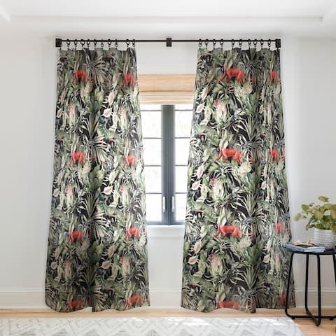 Marta Barragan Camarasa Animals In The Dark Of The Jungle Single Sheer Panel Curtain - 50 x 84