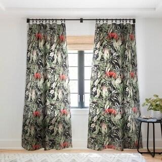 Marta Barragan Camarasa Animals In The Dark Of The Jungle Single Sheer Panel Curtain