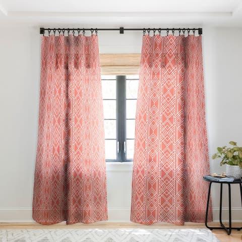 Elisabeth Fredriksson Peach Echo Geo Single Panel Sheer Curtain - 50 x 84