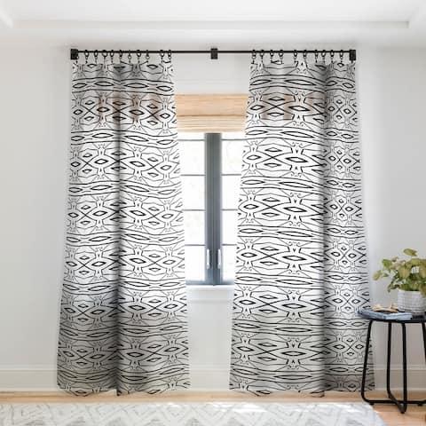 Viviana Gonzalez Modern Improvisation 02 Single Panel Sheer Curtain - 50 x 84