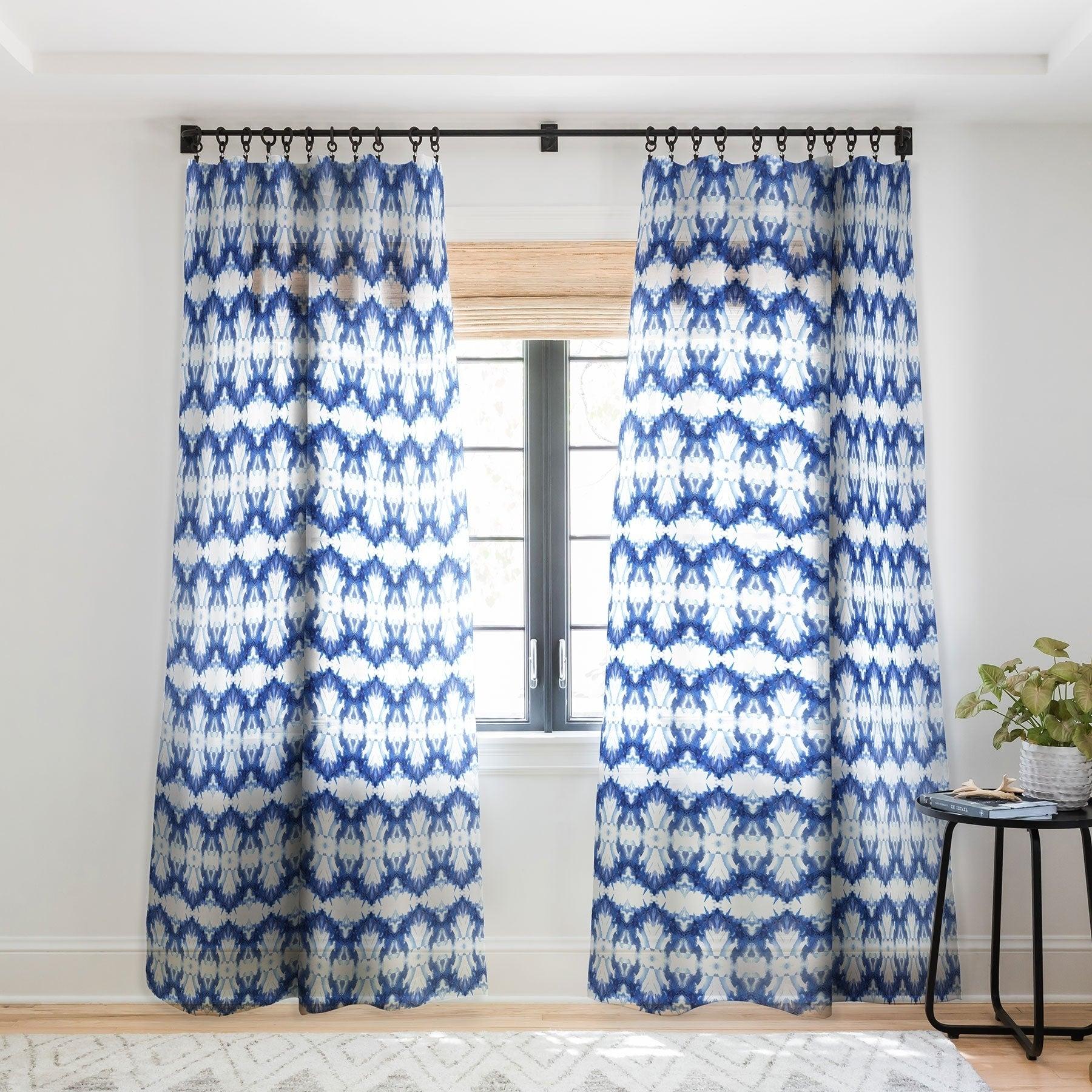 Schatzi Brown Blue Water Love Number 6 Single Panel Sheer Curtain 50 X 84 Overstock 22043604