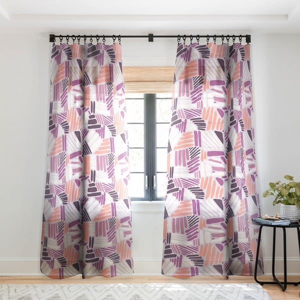 Mareike Boehmer Dots And Lines 1 Strokes Rose Single Panel Sheer Curtain 50 X 84 On Free Shipping Today 22043630