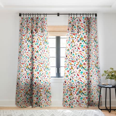 Ninola Design Imaginary Geo Animals Shapes Single Panel Sheer Curtain - 50 x 84