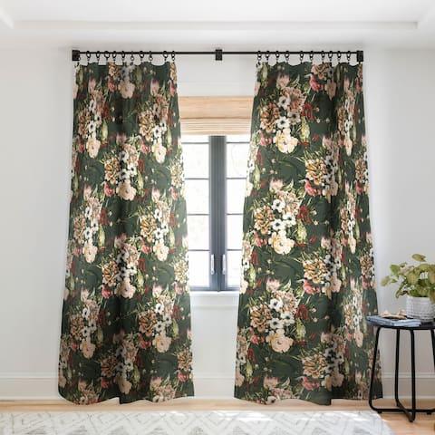 Marta Barragan Camarasa Dark wild floral 03 Single Panel Sheer Curtain - 50 x 84