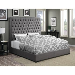 Camille Grey Upholstered Bed