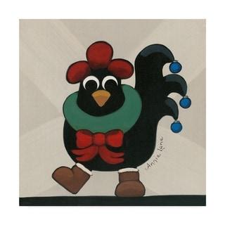 Annie Lane 'Merry Clucking Christmas' Canvas Art