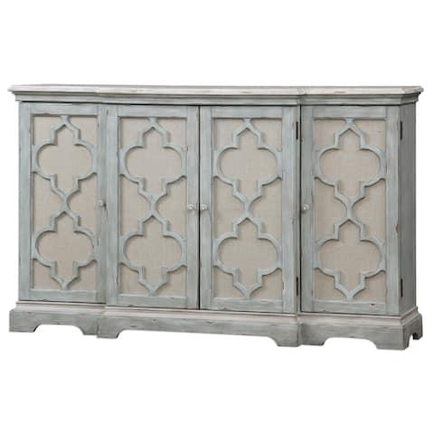 Uttermost Sophie Sea Grey 4-door Cabinet