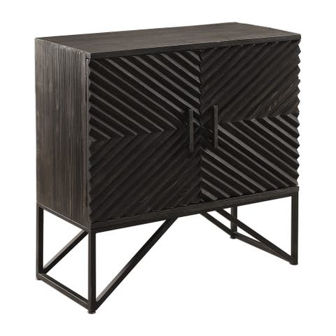 Uttermost Zadie Aged Ebony Accent Cabinet