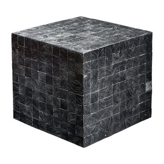 Uttermost Ayasha Dark Charcoal Grey Accent Table