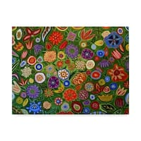 Catherine A Nolin 'Abstract Floral 0040' Canvas Art