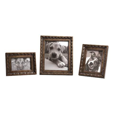 Uttermost Kalya Antiqued Bronze Photo Frames (Set of 3)