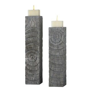 Uttermost Odion Metallic Silver Candleholders (Set of 2)