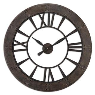 Uttermost Ronan Rustic Bronze Wall Clock