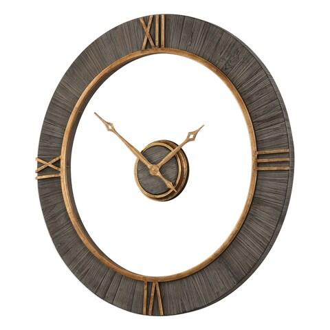 Uttermost Alphonzo Antiqued Gold Wall Clock