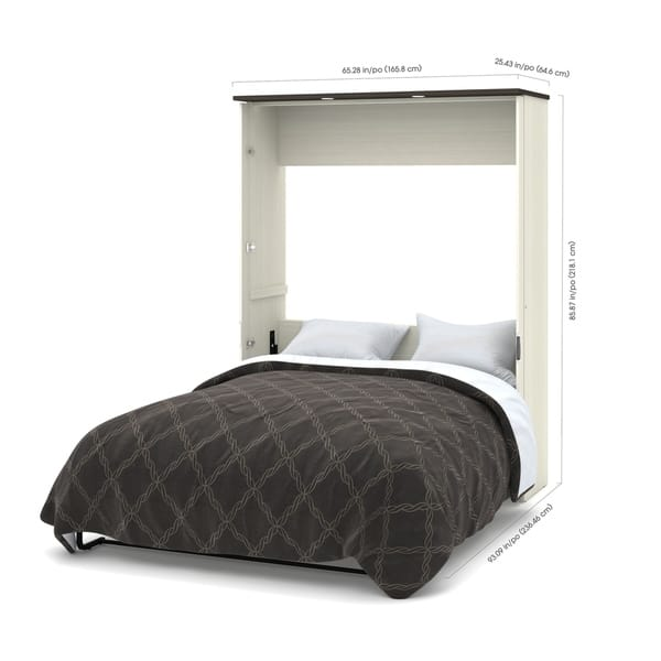 Shop Bestar Lumina 3 Piece Queen Wall Bed With Desk And 2