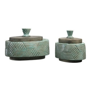 Link to Uttermost Ruth Antiqued Grey Boxes (Set of 2) Similar Items in Accent Pieces