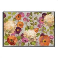 """Hydrangeas and Anemones"" by Silvia Vassileva, Fine Art Giclee Print on Gallery Wrap Canvas, Ready to Hang"