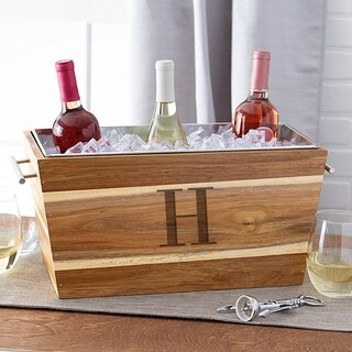 Personalized Acacia Beverage Trough (More options available)