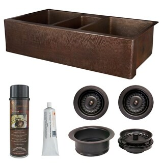 Premier Copper Products - KSP3_KATDB422210 Kitchen Sink and Drain Package