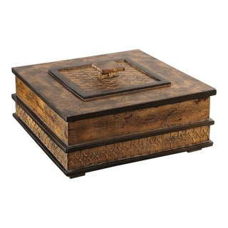 Uttermost Ray Antiqued Gold Box