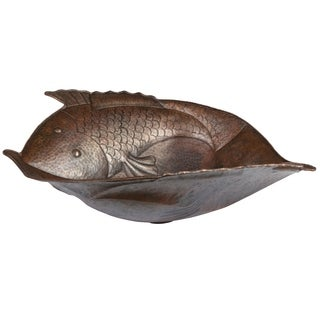Handmade Two Fish Vessel Copper Sink (Mexico)