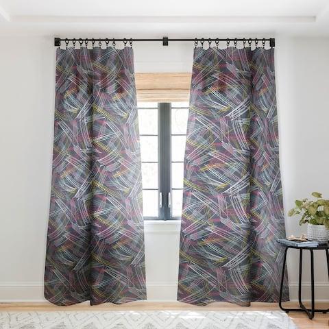 Heather Dutton Soho Midnight Single Panel Sheer Curtain - 50 x 84