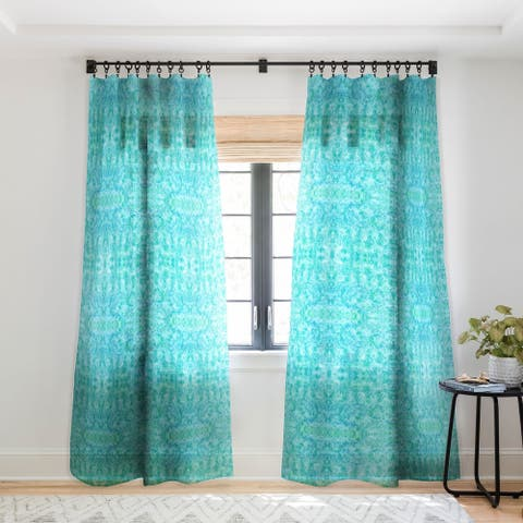 Rosie Brown Sparkling Sea Single Panel Sheer Curtain - 50 x 84