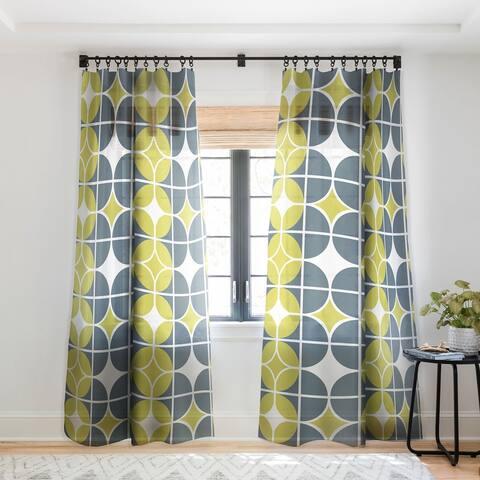 Heather Dutton Othello Single Panel Sheer Curtain - 50 x 84