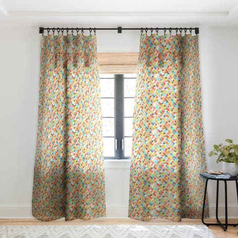 Sharon Turner Rashmi Ikat Single Panel Sheer Curtain - 50 x 84