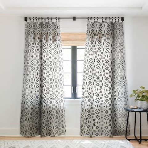 Holli Zollinger Geo Mudcloth Single Panel Sheer Curtain - 50 x 84