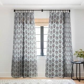 Andi Bird Sugar Skull Voodoo Single Panel Sheer Curtain - 50 x 84