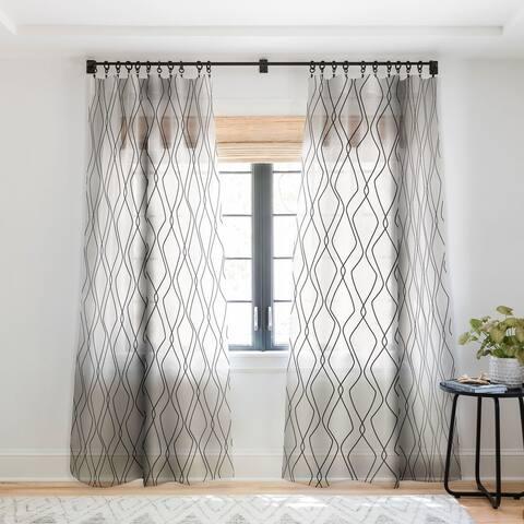Heather Dutton Fuge Stone Single Panel Sheer Curtain - 50 x 84