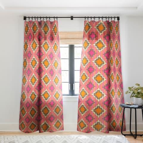 Sharon Turner Tangerine Kilim Single Panel Sheer Curtain - 50 x 84