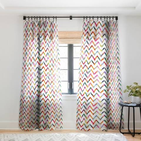 Stephanie Corfee No Ziggity Single Panel Sheer Curtain - 50 x 84