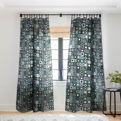 Sharon Turner Parava Midnight Single Panel Sheer Curtain - 50 x 84