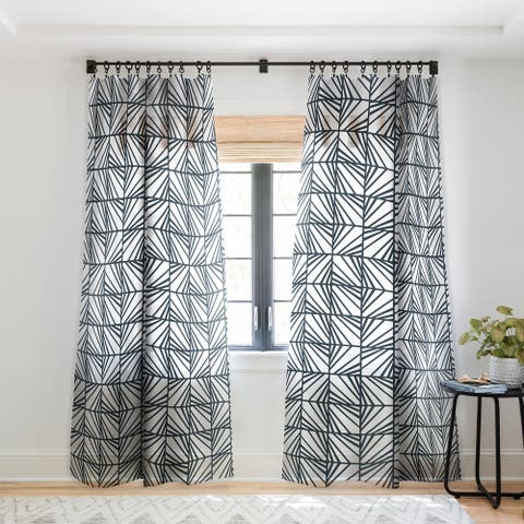 Heather Dutton Facets Optic Single Panel Sheer Curtain - 50 x 84