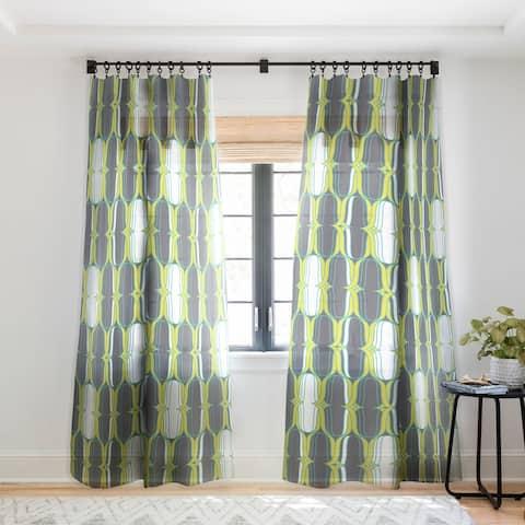 Heather Dutton Lofty Idea Metro Single Panel Sheer Curtain - 50 x 84
