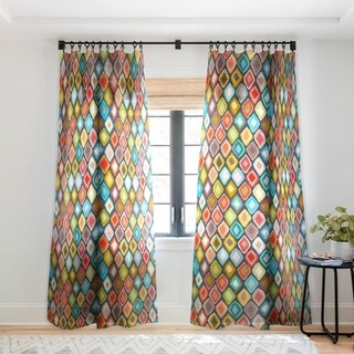 Sharon Turner Almas Diamond Ikat Single Panel Sheer Curtain - 50 x 84