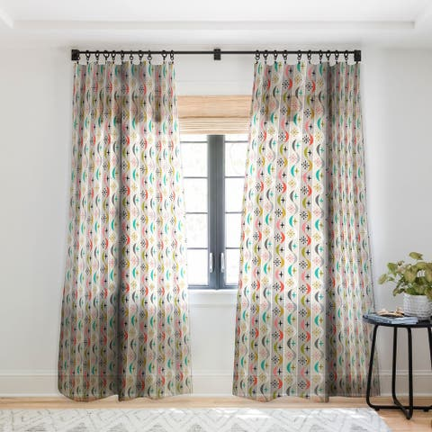 Andi Bird Retro Wave Single Panel Sheer Curtain - 50 X 84