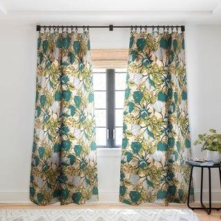 "Marta Barragan Camarasa Tropical autumnal bloom Single Panel Sheer Curtain 84"" L (As Is Item)"