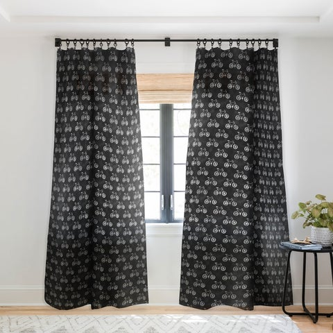 Leah Flores Bicycle Single Panel Sheer Curtain - 50 x 84
