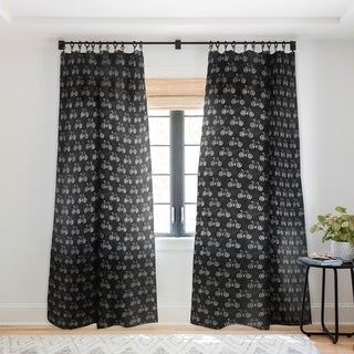 Leah Flores Bicycle Single Panel Sheer Curtain