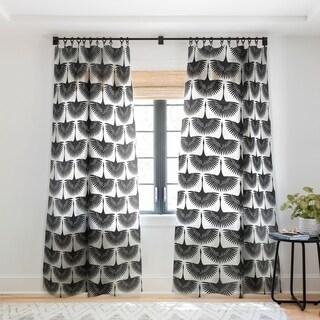 Caroline Okun Majestic Crane Single Panel Sheer Curtain - 50 x 84