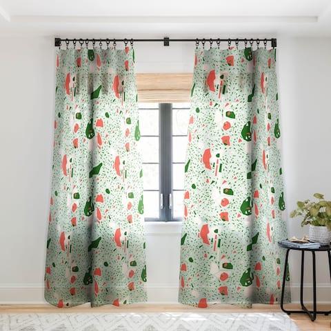 Marta Barragan Camarasa Terrazzo abstract forms Single Panel Sheer Curtain - 50 X 84